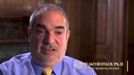 "Rabbi Jacob Staub, Ph.D, interviewee on ""The Chosen People? A Film about Jewish Identity"""
